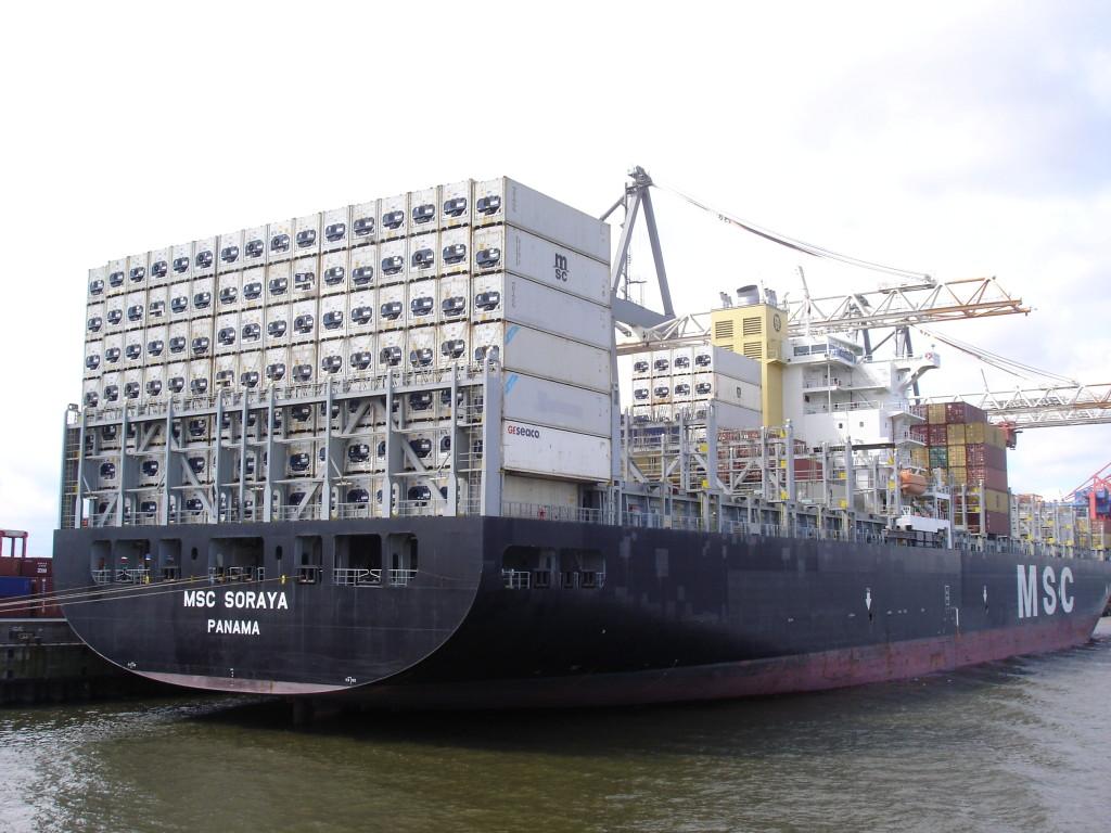 Hamburk - kontejnerová loď