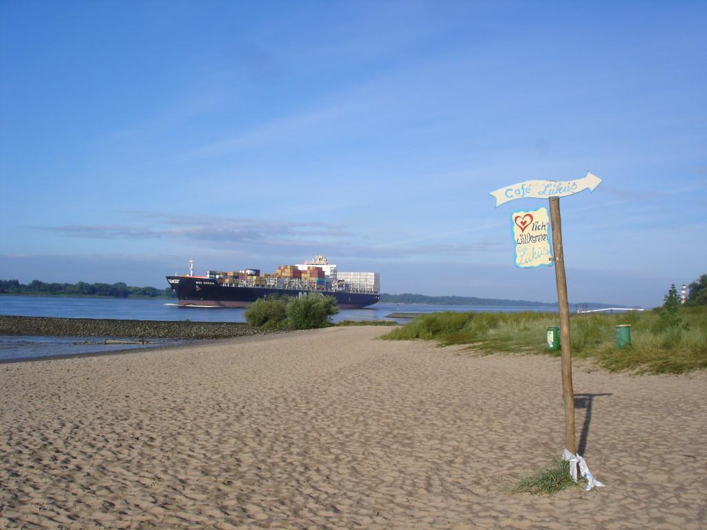 Hamburská pláž ukempu